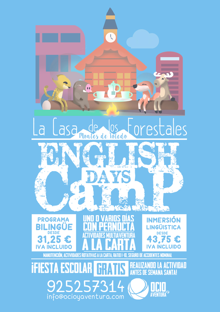Programas Escolares English Days Camp Ocioyaventura